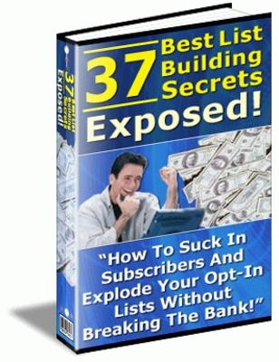 Product picture 37 Best List Building Secrets Exposed (MRR)